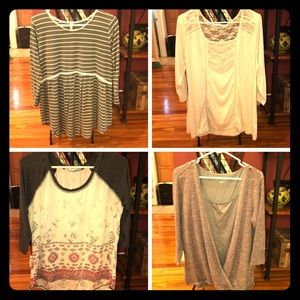 4 for 10 Maurice's XL tops